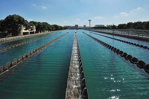 临江水厂40万吨平流式沉淀池